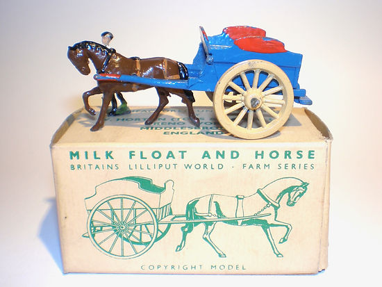 Britains Lilliput World Vehicle Series LV/605 Milk Float and Horse