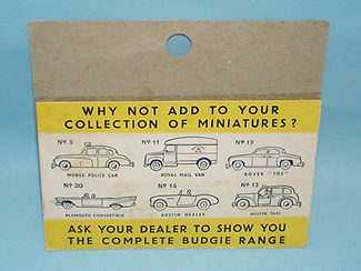 Budgie Miniatures No.12 VW Micro Bus - yellow blister-pack (reverse)