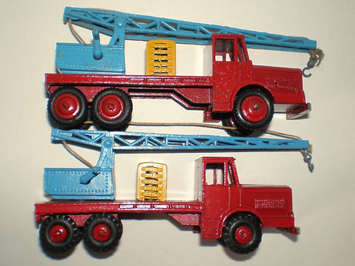 Budgie No.214 Salvage Crane wheel variations