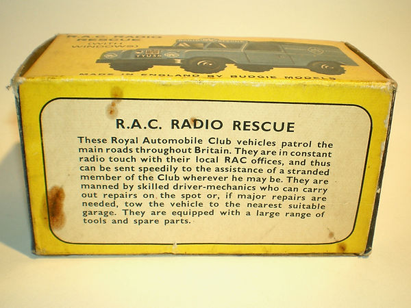 Budgie No.278 RAC Radio Rescue Land Rover  box