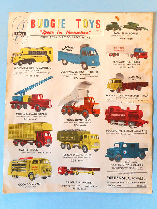 Budgie Toys Leaflet 1959 - Second Issue