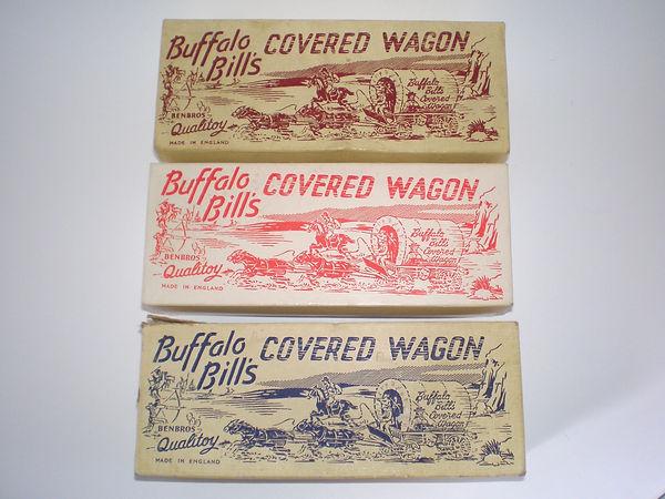 Benbros Qualitoys Buffalo Bill's Covered Wagon - box lid colours