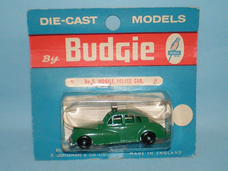 Budgie Miniatures No.5 Police Car - blue blister-pack