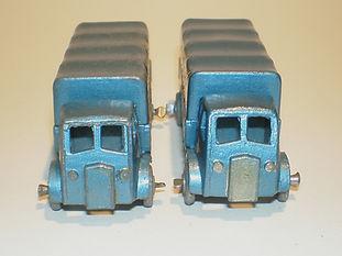 Benbros No.31 AEC Covered Truck metallic blue