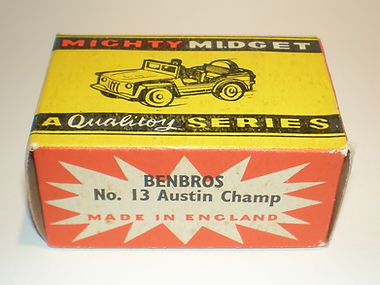 Benbros No.13 Austin Champ Mighty Midget box