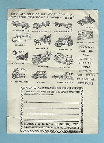 Morestone Car Transporter Coupon