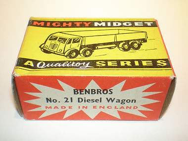 Benbros No.21 Diesel Wagon Mighty Midget box