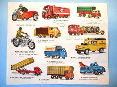 Budgie Models Leaflet 1962 - Second Issue (reverse)