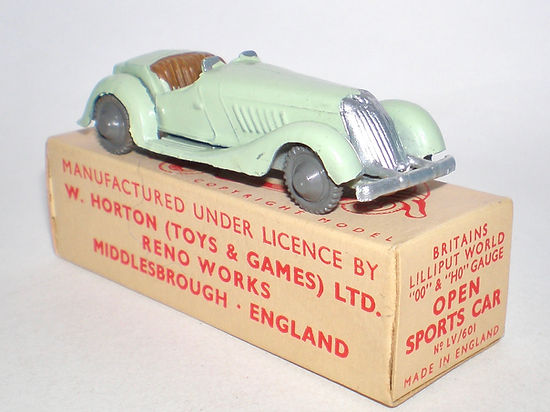 Britains Lilliput World Vehicle Series LV/601 Open Sports Car & box