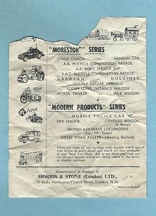 Morestone (Morris & Stone) Leaflet 1955
