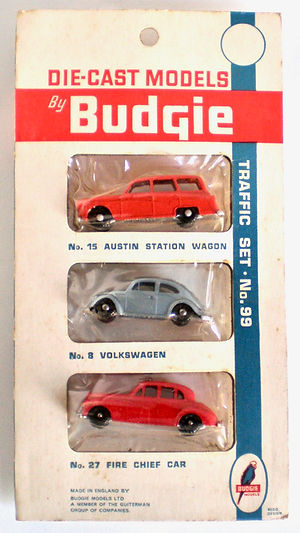 Budgie Miniatures triple blister-pack No.99a Traffic Set
