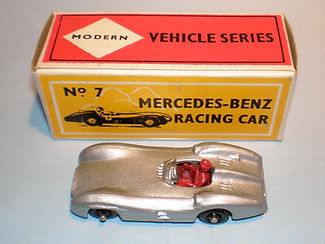 Budgie No.7 Mercedes-Benz Racing Car - bpw, Modern (type 1) box