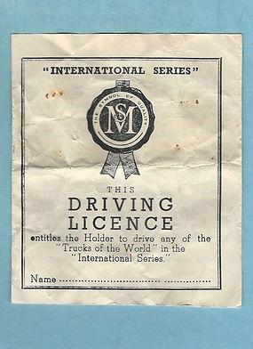 Morestone International Trucks of the World Driving Licence