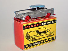Benbros Mighty Midget No.18 Hudson Tourer - chrome, blue roof, red wheels