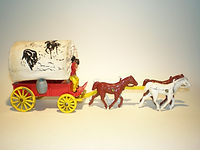 Benbros Qualitoys Buffalo Bill's Covered Wagon