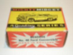 Benbros No.40 Ford Convertible Mighty Midget box