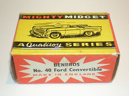 Benbros No.40 Ford Convertible Mighty Midget box