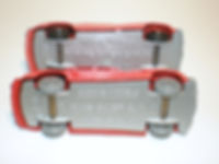 Budgie Miniatures No.27 Fire Chief Car - wheels and base
