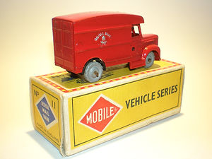 Budgie Miniatures No.11 Royal Mail Van - umw, closed rear windows, Mobile box