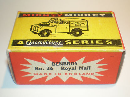 Benbros Mighty Midget No.36 Royal Mail Land Rover - box