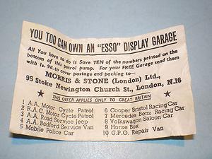 Morestone Esso Garage Token