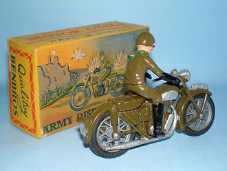 Benbros Qualitoy Army Despatch Rider Motorcycle