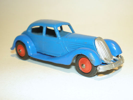 Britains Lilliput LV/602 Saloon Car - mid-blue, red plastic wheels & black tyres