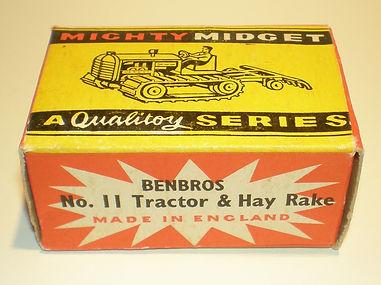 Benbros No.11 Tractor & Hay Rake, Mighty Midget box