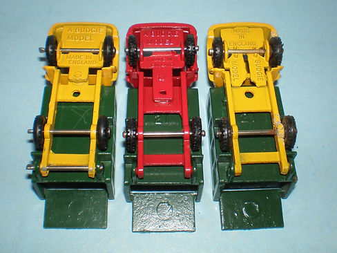 Budgie Miniatures No.21a Tipper Truck base and chassis variations