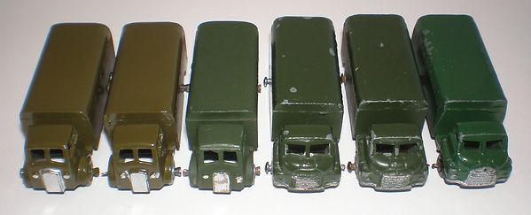 Benbros Mighty Midgets No.30 Army Wagon - colours