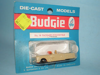 Budgie Miniatures No.14 Packard Convertible - blue blister-pack