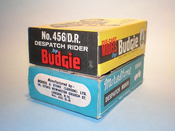 Budgie No.456/DR Despatch Rider box variations