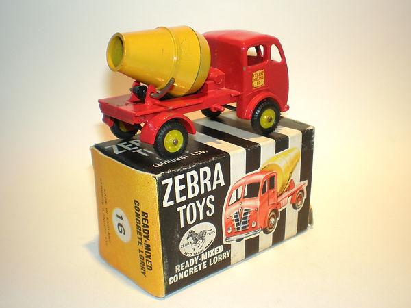 Benbros Zebra Toys Cement Truck