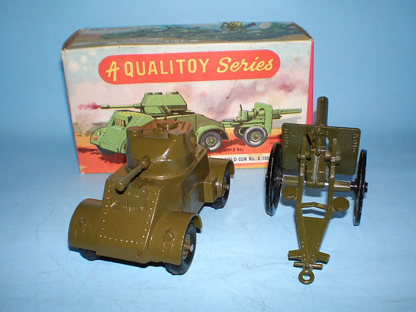 Benbros Qualitoys Armoured Car & Field Gun
