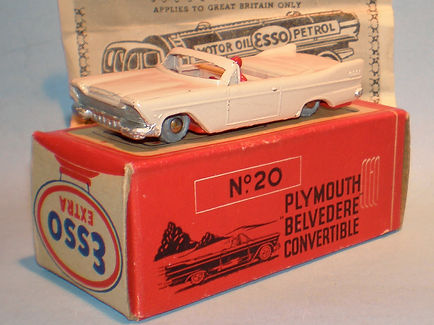 Morestone Esso Petrol Pump Series No.20a Plymouth Belvedere