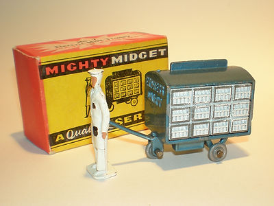 Benbros Mighty Midget No.7 Milk Trolley metallic blue
