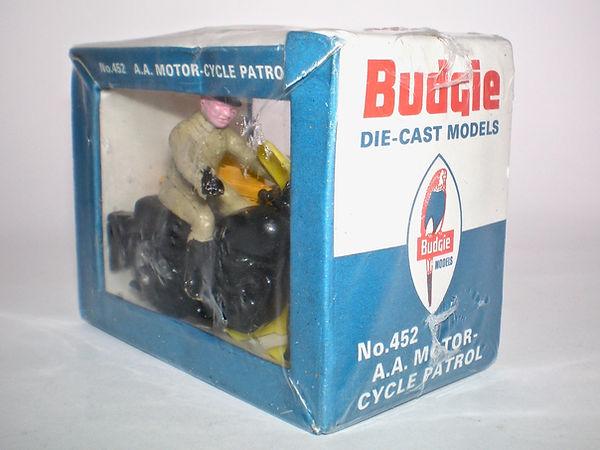 Budgie No.452 AA Motorcycle Patrol in window box