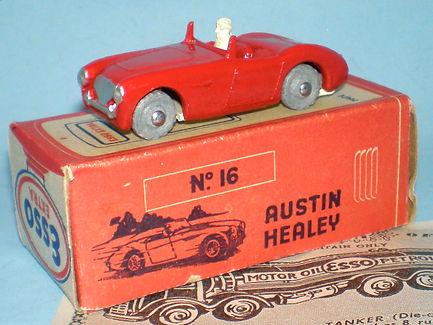 Morestone Esso Petrol Pump Series No.16 Austin-Healey