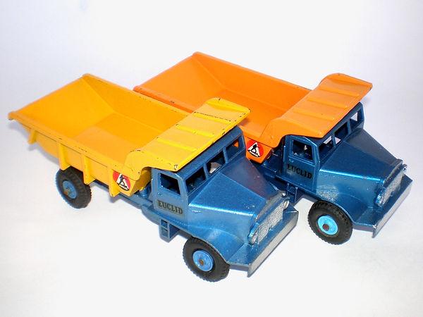 Benbros Qualitoys Euclid Dump Trucks contrasting colours