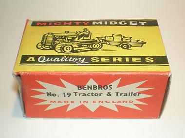Benbros No.19 Tractor & Trailer Mighty Midget box