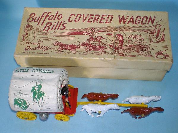 Benbros Qualitoy Buffalo Bill's Covered Wagon