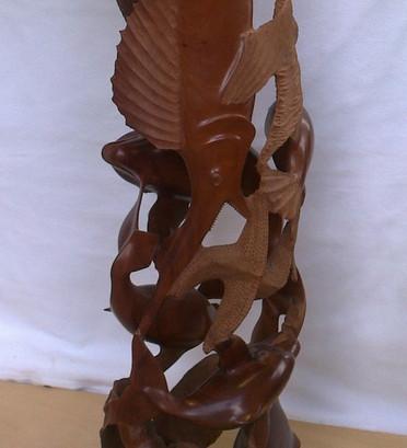 Teilansicht Poseidon Skulptur