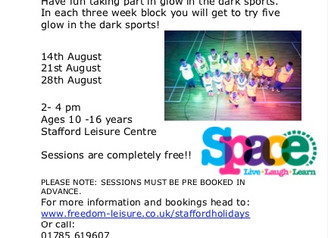 Fun activities at Stafford Leisure Centre