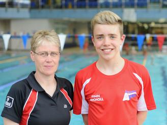 Finn Nicholl makes finals at Swim England national championships