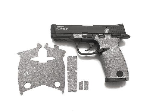 Smith and Wesson M&P 22 Gray Textured Rubber Gun Grip Enhancement Gun Parts Kit