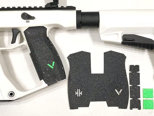 Kriss Vector Textured Rubber Gun Grip Enhancement Gun Part Kit Green Insert