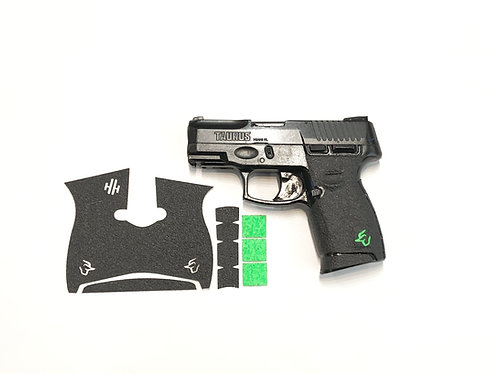 Taurus G2 C Millennium with Green Inserts Gun Grip Enhancement Gun Kit