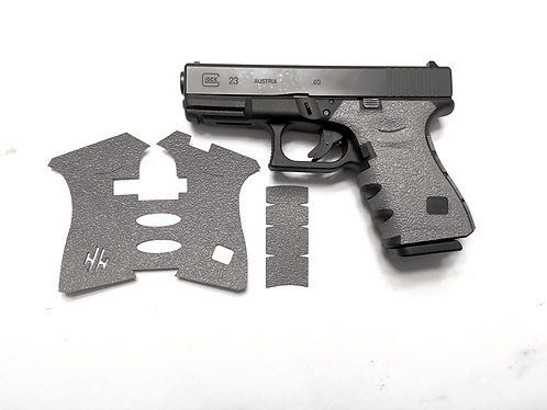 Glock 19/23/25/32/38 Gray Textured Rubber Gun Grip Enhancement Gun Parts Kit