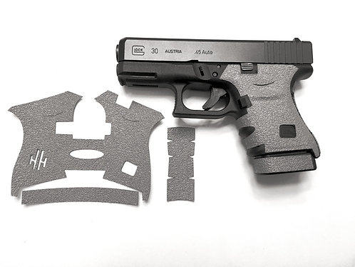 Glock 30 Gray Textured Rubber Grip Enhancement