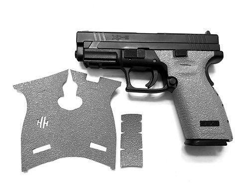 Gray Springfield XD 9/40 Gray Textured Rubber Gun Grip Enhancement Gun Parts Kit